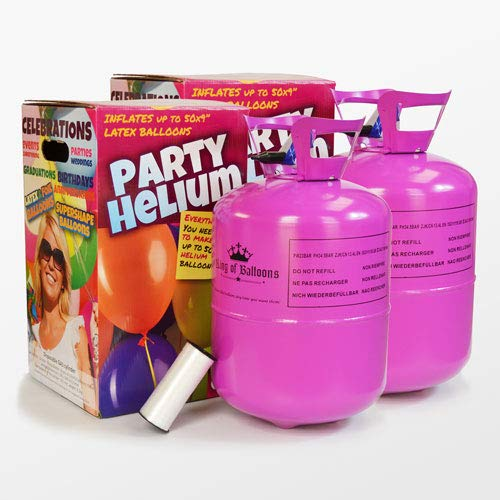 We Are Party Pack Maxi Duo - 2 bombonas de Helio de 0.42m3 para 100 Globos