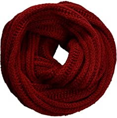 """Materials: 100% Pashmina-like Soft Acrylic. Thick and plush, super comfortable on the skin. Cable knit infinity loop scarf for women, men, girls and boys. Dimensions(Not Stretched): 55"""" circumference x 12""""W. Long enough to wear around the neck in one..."""