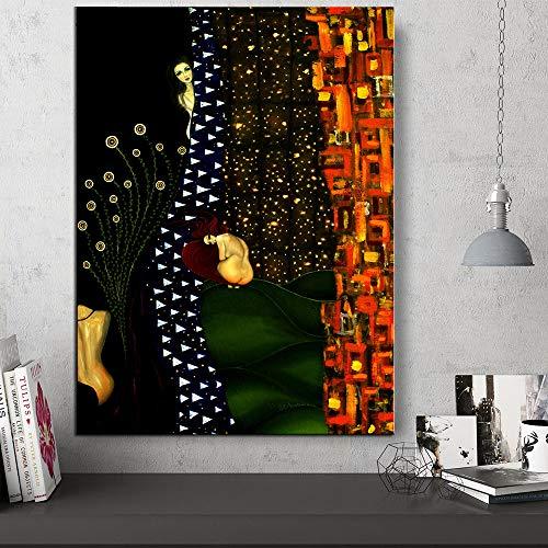 FPUYB Gustav Klimt Giclée Möbel schöne große Puzzle Matching Puzzle 1000 Teile 75x50cm Geeignet für Familienspielzeug, Burgen, Geschichte, Attraktionen, Ausflüge, Parks