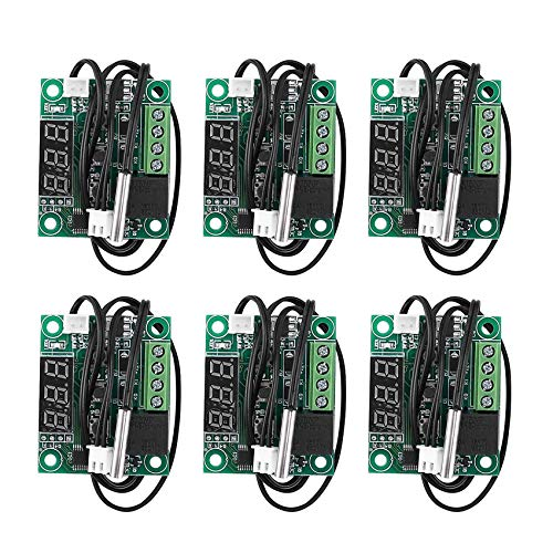 Nirmon 6 Piezas W1209 Placas de Controlador de Temperatura de Termostato Digital-50-110 Celsius MóDulo de Interruptor de Control de Temperatura ElectróNico