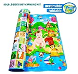 Wazdorf Double Side Waterproof, Anti Skid Baby Crawling Play Floor Mat for Kids