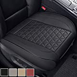 Black Panther Luxury PU Leather Car Seat Cover Protector for Front Seat Bottom,Compatible with 90% Vehicles (Sedan SUV Pickup Mini Van) - 1 Piece,Black (21.26×20.86 Inches)