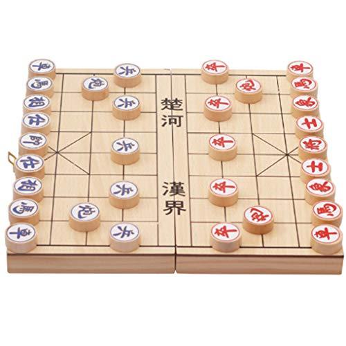Floridivy Kinderen ontwikkelen van Intelligence educatief speelgoed Folding Houten Chinese Chess Educatief spel