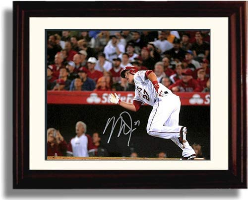 Easy-to-use Framed Cheap mail order shopping Mike Trout - Going Print Replica Deep Autograph