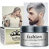 Haarfarbe Wachs Bartfarbe, Temporäre Frisuren Creme, Haarwachs Unisex DIY Haarformung Cream...