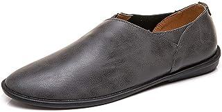 [Tiandao] ビジネス 通気 防滑 カジュアル 耐久 シューズ ハイキング 革靴 メンズ 軽量