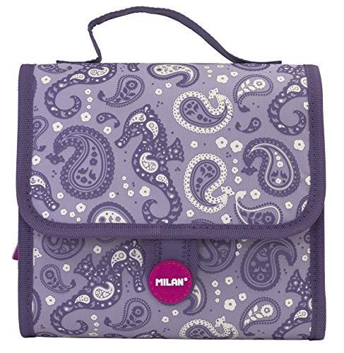MILAN koffer 2 mapjes met inhoud Drops kinderrugzak, 22 cm, violet