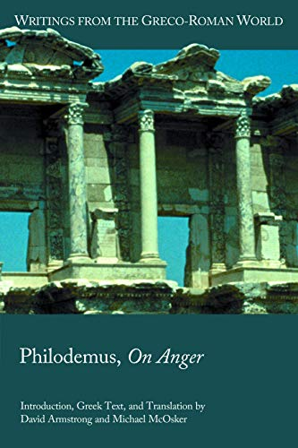 Philodemus, On Anger (Writings from the Greco-roman World)