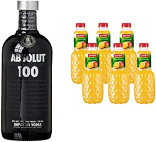 Absolut 100 Wodka 1 x 0.7 l mit Granini Trinkgenuss Orange-Mango 6 x 1 l