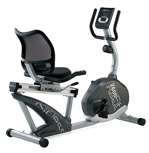 JK Fitness Performa 2600 Cyclette Orizzontale Magnetica, Silver/Grigio