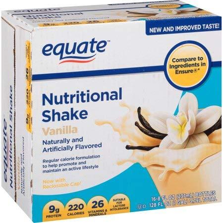 Equate Vanilla Nutritional Shake, 8 fl oz, 16 count