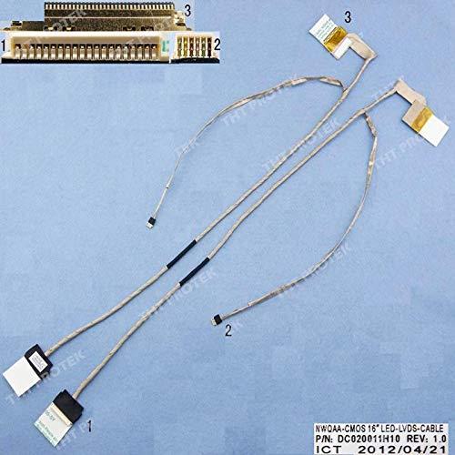 Kompatibel für Toshiba Satellite L670-10P, L670D-146, L670-10R, L670D-120, L670-1H9, L670-1HD Displaykabel Bildschirm Screen Video LED Cable