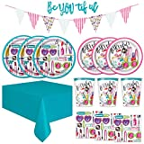 SPA Girls Makeup Birthday Party Supplies Pack - Dinner Plates, Cake Plates, Napkins, Cups (Deluxe - Serves 16)