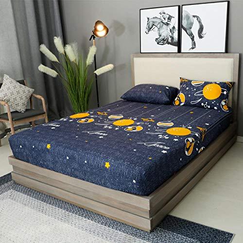 XGguo Protector de colchón Acolchado - Microfibra - Transpirable - Funda para colchon estira hasta Sábana Impermeable cepillada impresión en Color sólido-9_180x200x28cm