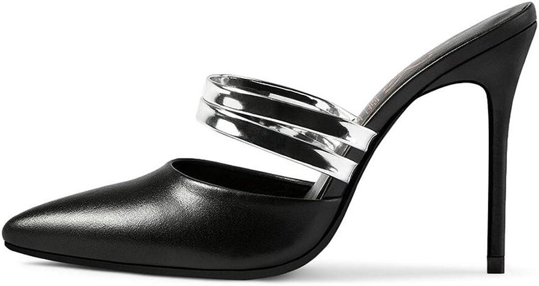 CJC High-Heeled Sandals Baotou High Heels Thin High Heels Sandals Elegant Sexy Fashion (color   Black, Size   EU36 UK4)