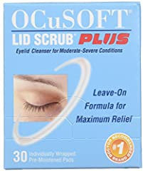 Ocusoft Lid Scrub Plus Pack of 2. 30 pads each. Total 60 pads. Ocusoft Lid Scrub Pre-Moistened Pads effectively removes oil, debris and desquamated skin from the eyelids. Ocusoft Lid Scrub Plus is recommended for patients with moderate-severe eyelid ...