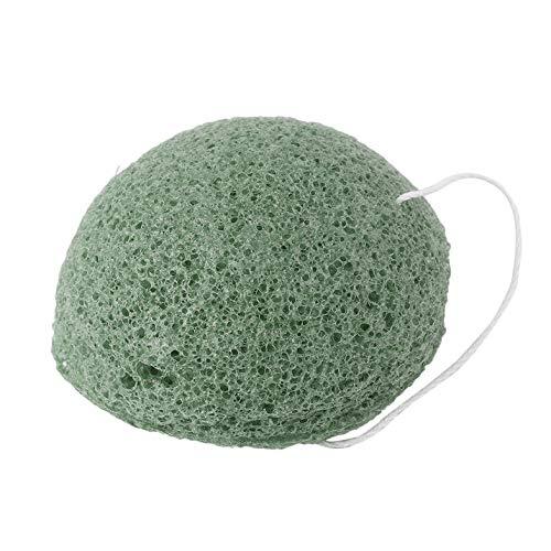 Esponja Konjac Natural Cuidado Facial Limpieza Esponja de Lavado Blanqueamiento Limpieza Profunda de poros Esponja Herramientas para el Cuidado de la Piel - Te Verde