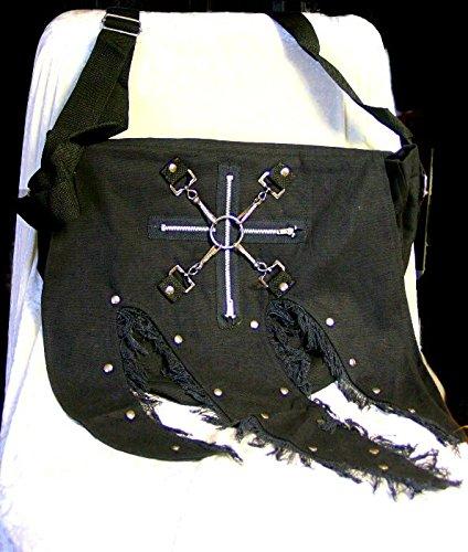 Dark Dreams Gothic Punk Mittelalter Tasche Comitis, Farbe:schwarz - 2