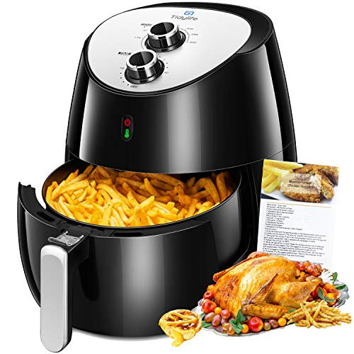 Air Fryer,1700W Hot Air Fryer Family Size 5.8 Qt with Dishwasher Parts, 8-in-1 Air Fryer with Smart Time, Temperature Control, Auto Shut Off and 50 Recipes