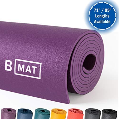 "B YOGA B MAT Strong Matte für Yoga, 183 cm, Dunkelviolett, deep Purple, 71\"""