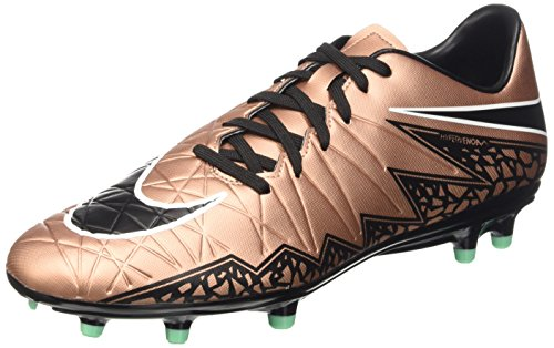 Nike Hypervenom Phelon II FG, Botas de fútbol para Hombre, Mtlc Rd Brnz/Blk-Grn GLW-White, 42 1/2 EU
