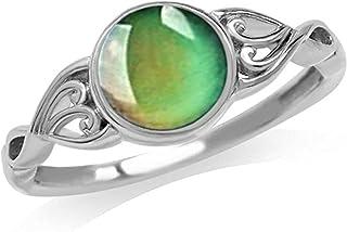 Yuanhua إحساس درجة الحرارة وتغير اللون خاتم للنساء المفصل المفصل المفصل الدائري للنساء خواتم أنيقة