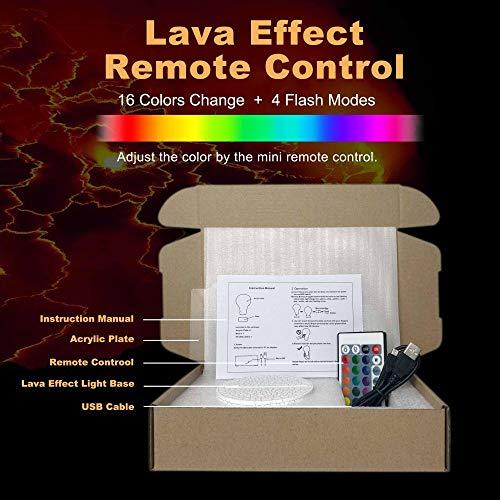 Can Optical Ilusion 3D Night Light Lámpara de escritorio de 7 colores para decoración del hogar, regalos de Navidad USB - Base ABS - Alimentado por USB - Ojos de ahorro de energía