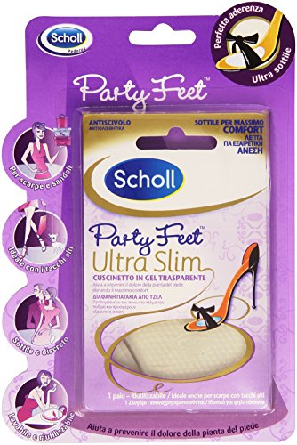 Scholl - Cuscinetto in Gel, Trasparente, aiuta a prevenire il dolore della pianta del piede -  1 paio