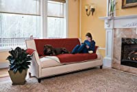 Stratton Collection Quilted Reversible Furniture Protector in Solid Colors By Home Fashion Designs (Sofa, Red / Ivory)75