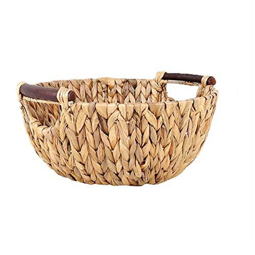 Canasta de pan Cestas de fruta creativa de ratán paja decorativa de la manija cestas de almacenamiento de pan Cestas Las cestas de mimbre Cesta de picnic lunes cibernético