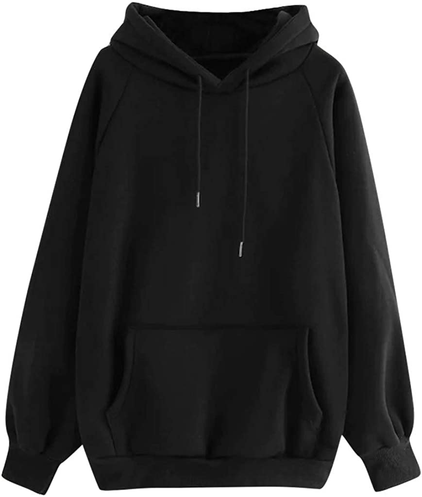 Women's Fleece Hoodie Casual Long Hooded Sleeve Memphis Mall Sweatshirt Max 47% OFF Loose
