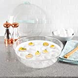 4-IN-1 SERVING TRAY- With a cooling bowl for ice or salad, a tray that holds 18 deviled eggs, and a platter with 3 compartments, you can easily keep fruit, veggies, cheese, meat, or any chilled appetizers at the perfect temperature during your event....
