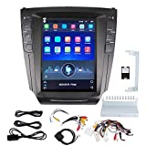 Yctze Car GPS, 10.4in Car Radio Stereo GPS Navigation System Portrait Fit for Lexus IS200 IS250 IS300 IS350 2007 ‑2015 Black