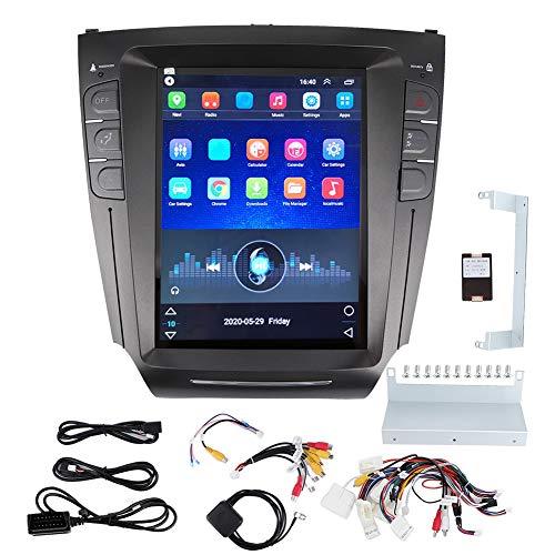 GPS para coche para Lexus IS200 IS250 IS300 IS350 2007-2015, sistema de navegación GPS estéreo para radio de coche de 10,4 pulgadas para navegación táctil completa Android, negro
