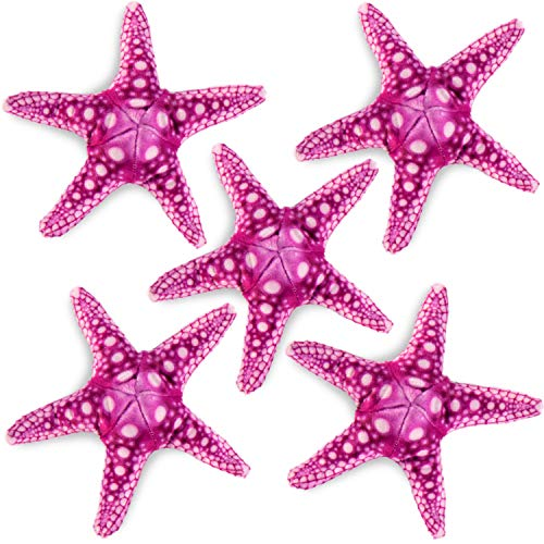 REAL PLANET Bundle Pack 5 Sea Star 7' Inch Realistic Soft Plush