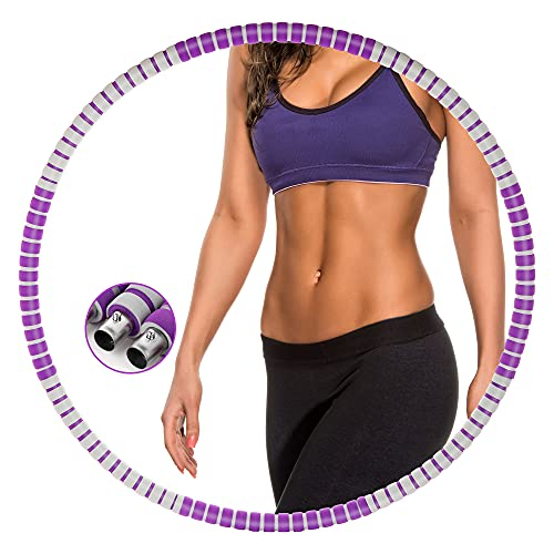 Gesofy Exercise Hoop for Adults, Weighted Fitness Hoop for...