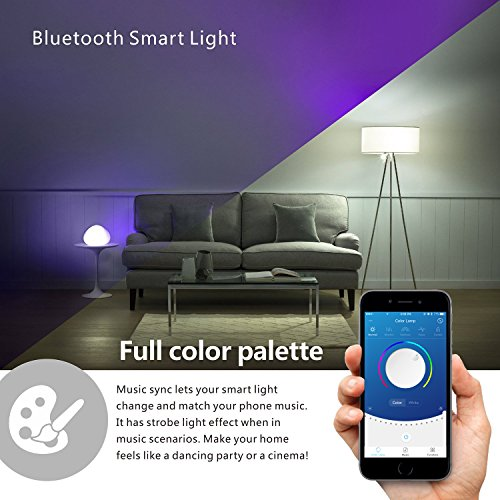 VICTONY Smart LED Light Bulb, Bluetooth Speaker Light Bulb, APP Controlled, Wireless Stereo Audio...