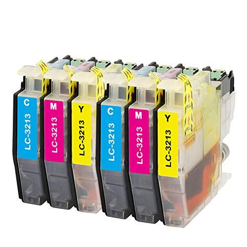 Teland - Cartuccia di inchiostro compatibile per Brother LC3213 LC-3213 per Brother MFC J890DW, MFC J491DW, MFC J497DW, DCP J572DW, MFC J895DW, DCP J772DW, DCP J774DW (2 ciano, 2 Magenta, 2 giallo)
