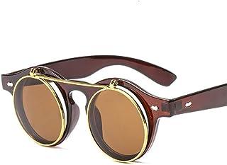 ZYJ - Gafas de Sol Redondas Hombres Mujeres Unisex Retro Diseño Vintage Gafas de Sol pequeñas para Hombres Gafas de Sol de conducción Gafas de Sol para Hombres Gafas de Sol