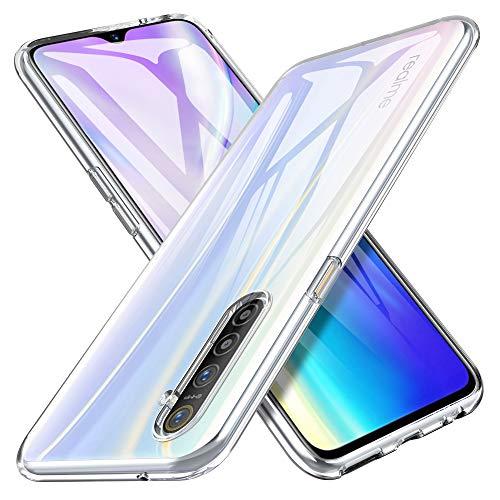 iBetter Morbido Slim TPU per Realme X2 Cover,Antiurto Trasparente Silicone Custodia, per Realme X2 Smartphone.Trasparente