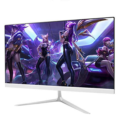 YILANJUN Monitor de Juegos LED Curva 24 Pulgadas, HD 1080P (1920 × 1080), 75 Hz, HDMI+VGA, Panel MVA Ángulo, 2 ms, Filtro Luz Azul sin Parpadeo, para Cibercafés Salas Estar Oficinas