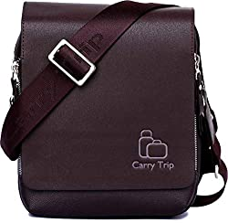 CARRY TRIP Men's Kangaroo PU Leather Crossbody Briefcase(Brown, Messenger bag 04),CARRY TRIP,Messenger bag 04