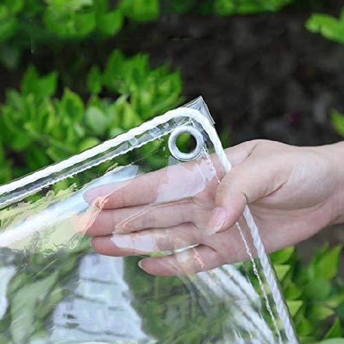 KDDFN Carpa Exterior de Plástico Antienvejecimiento al Aire Libre,35 Tamaños,Personalizable,Color:Clear (1.8 * 1.8m/71 * 71in)