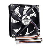 GDSTIME Ventilador de refrigeración PWM de 120 mm, 4 pines, PC CPU Case Fan Cooler DC 12 V Brushless Fan Case Computer Heatsink Radiador de flujo de aire 120 x 120 x 25 mm