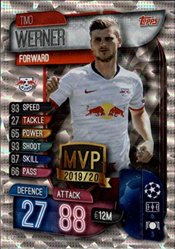 2019-20 Topps UEFA Champions League Match Attax Club MVPs #C LEI Timo Werner RB Leipzig Official Futbol Soccer Trading Card Game Playing Card