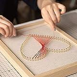 COOBNO - Cordón geométrico de Seda, Hecho a Mano, para Sala de Estar, Creativo, 3D, Tridimensional, Decorativo, para Dibujo, Pintura de Seda