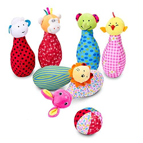 Twiddlers The Pluschtiere Kegelspiel aus weichem Material für Babys & Kleinkinder