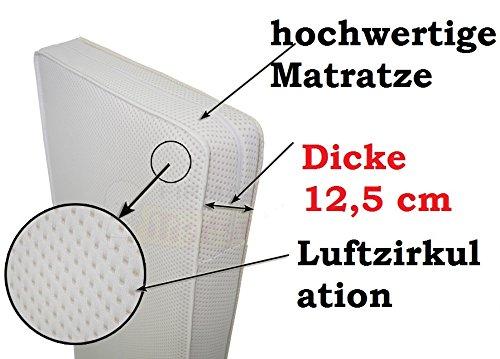 Kinderbett Matratze 120x60 cm Kokosnuss / Schaum / Kokosnuss Dicke 12,5 cm !!!