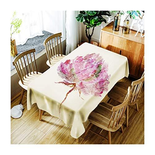 ZHAOXIANGXIANG Art Lavable Tapis De Table en Tissu Imperméable Impression Numérique Cirée Décoration Maison Pique-Nique Dîner Table Cloth Impression Taille Assorties,90Cm×130Cm