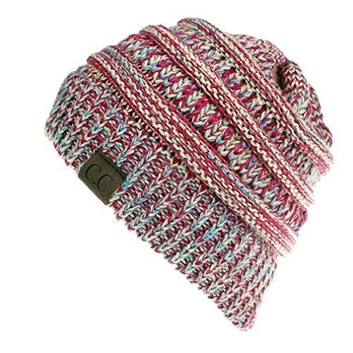 Fliegend Homme Femme Tricoté Chapeau Bonnet Avec Trou Slouch Beanie Coton Calotte Chapeau D'hiver De Fine Jersey Tissu Respirant Élastique